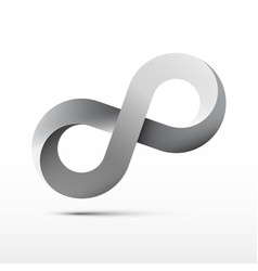 infinite design endless motion icon infinity loop vector image