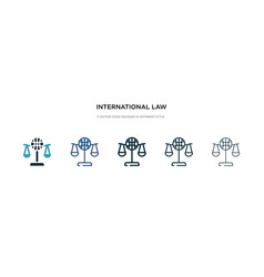 international law icon in different style two vector image