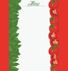 Italian flag vertical menu template vector