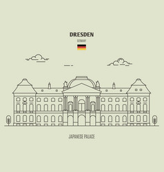 japanese palace in dresden vector image