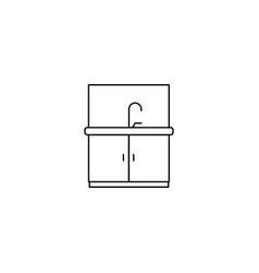 kitchen furniture icon vector image