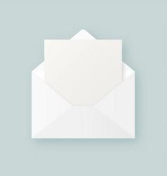 Letter mockup vector