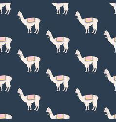 Llama seamless pattern vector
