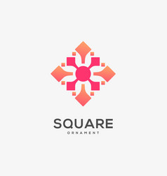 logo square ornament gradient colorful vector image
