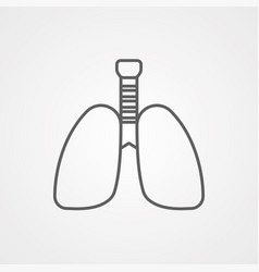 lungs icon sign symbol vector image
