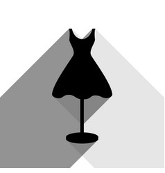 mannequin with dress sign black icon with vector image