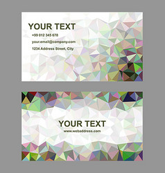 Multicolor abstract business card template design vector