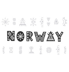 norway hand lettering isolated on white vector image