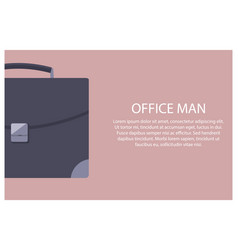 office man poster briefcase vector image