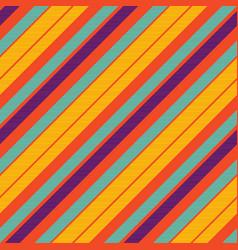 orange pop art colored striped diagonal fabric vector image