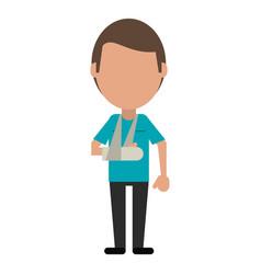 people patient broken arm vector image