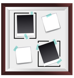Picture frame with four empty spaces vector