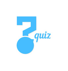 question mark like quiz button vector image