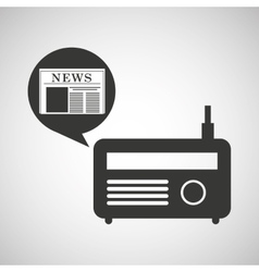 Radio icon news bubble speech design vector