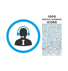 Reception Operator Rounded Icon with 1000 Bonus vector