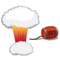 Red barrel dynamite and a bomb blast vector