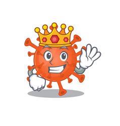 Royal king deadly corona virus cartoon vector