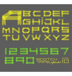 Scotch tape alphabet vector image