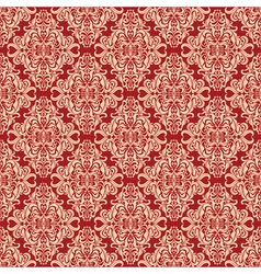 Seamless vintage floral pattern red vector