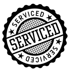 Serviced black and white badge vector
