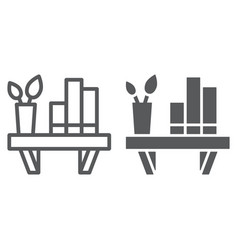 shelf line and glyph icon furniture and home vector image