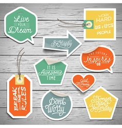 Slogans stickers abstract dream vector