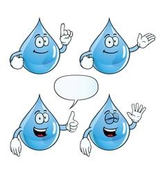 Smiling water drop set vector image