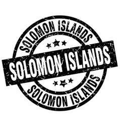 solomon islands black round grunge stamp vector image