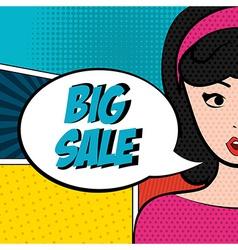 store pop art label vector image