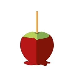 Sugar food design apple icon sweet vector