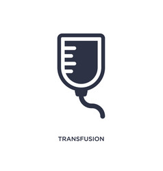 transfusion icon on white background simple vector image