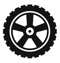 transport tire icon simple style vector image