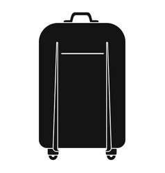 travel bag icon simple style vector image
