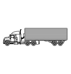 truck container transport delivery commerce vector image