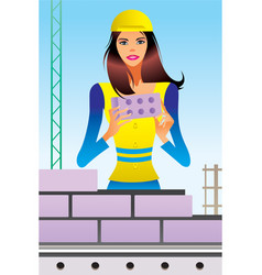 under construction scene vector image