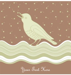 Vintage Bird Card vector image