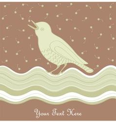 Vintage Bird Card vector image vector image