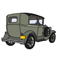Vintage green car vector