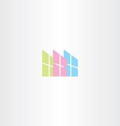 window logo icon sign vector image