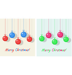 winter holiday christmas balls vector image