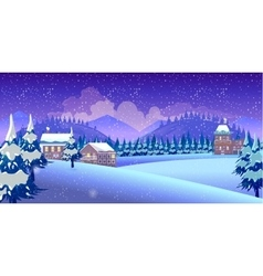 Winter nature landscape vector