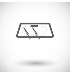 Wiper car single icon vector image