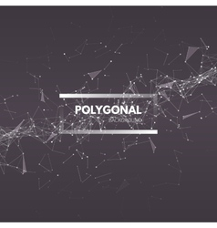 Wireframe mesh polygonal abstract background vector
