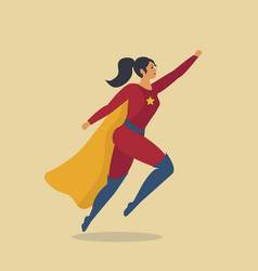 woman superhero girl dressed as a hero super vector image