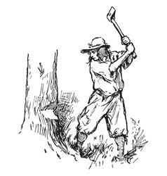 Woodman vintage vector