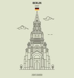 zions church in berlin vector image