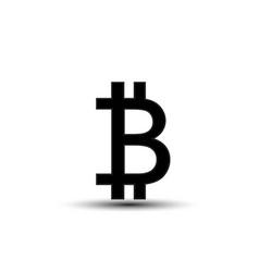 bitcoin symbol icon solid logo pictogram vector image