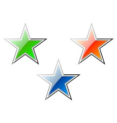 cartoon stars vector image vector image