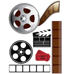Film Icon Set vector image vector image