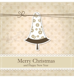 Grunge vintage Christmas background vector image